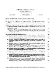 Bulletin provincial 2012 - n°5 - Province du Brabant wallon