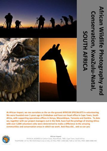 Thanda Wildlife Photography and Conservation ... - Students.net
