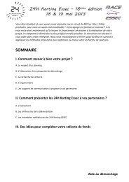 I. Comment mener à bien votre projet - Race Essec