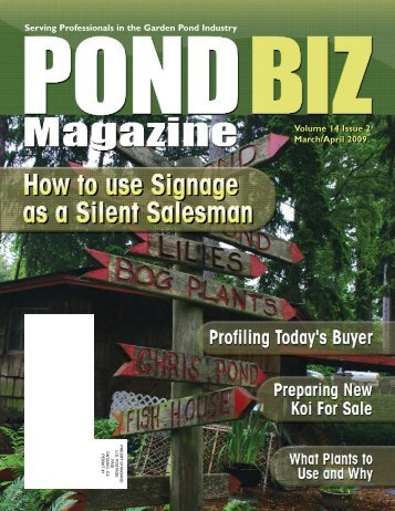 Download the March / April 2009 PDF - Pond Trade Magazine