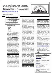 Wokingham Art Society Newsletter – February 2012