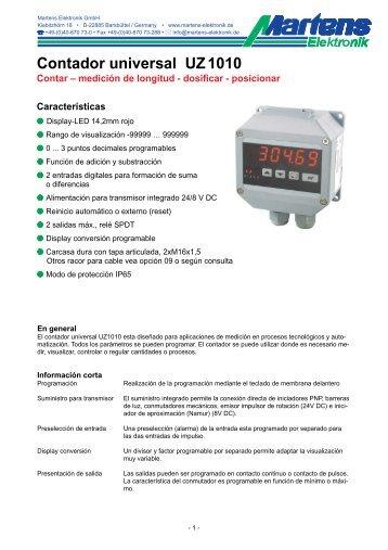 UZ1010-V1_6-00- Prospekt - Martens Elektronik GmbH