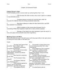 Chapter 33 Homework Packet Putting Things in Order Put the ...