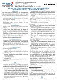 OZD AS KAS-2 - Komunálna Poisťovňa