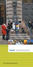 Estudiar e investigar en Alemania y Centroamérica - DAAD