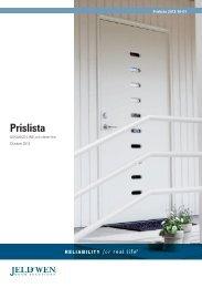 Prislista - Jeld - Wen