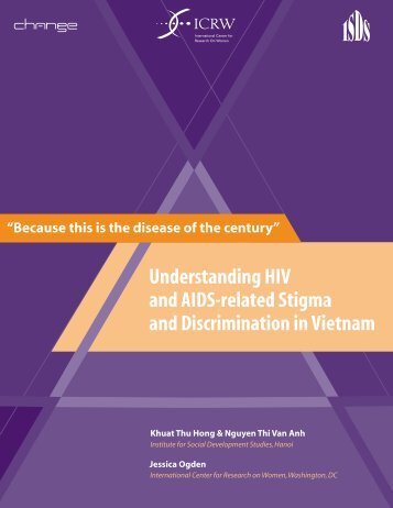 Understanding HIV and AIDS-related Stigma and ... - ICRW