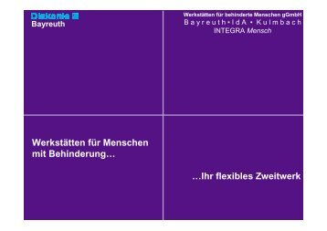 Mensch - Diakonie Bayreuth