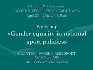 Iva GAVEZ - EWS European Women and Sport