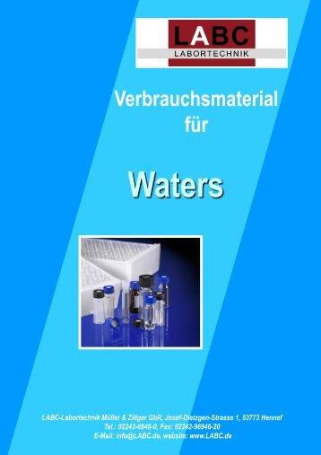 340 Verbrauchsmaterial für Waters - LABC Labortechnik