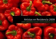 Dosier de Artistas en Residencia 2009 - Centro Dramático Galego