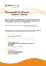 Noninvasive Positive Pressure Ventilation ... - Mayo Healthcare