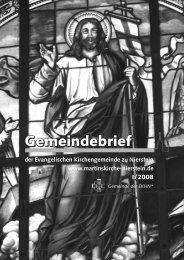 Bestattungen - Evangelische Kirchengemeinde Nierstein