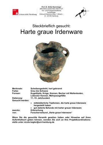 Harte graue Irdenware