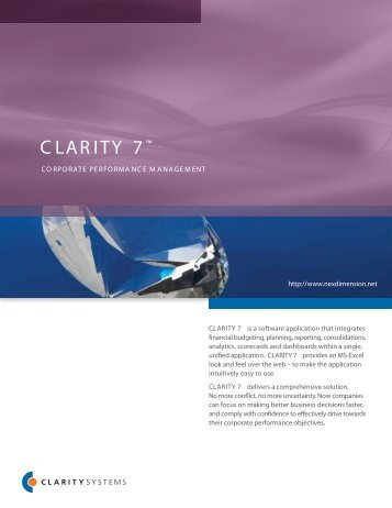 CLARITY 7™ - nexDimension