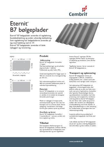 Eternit® B7 bølgeplader - Bygogbolig.dk