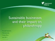 Sustainable businesses and their impact on philanthropy - Travelers ...