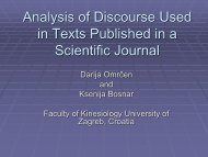 Analysis of Discourse Used in Texts Published in a Scientific Journal