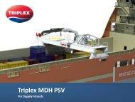 Triplex MDH PSV - SANGER METAL