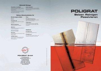 """""""Beizen - Reinigen - Passivieren"""" (pdf) - POLIGRAT GmbH"""