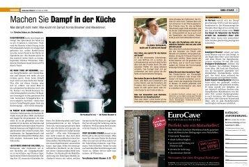 Machen Sie Dampf in der Küche - Küchen-Verband der Schweiz