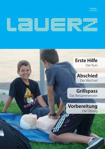 Erste Hilfe Abschied Grillspass Vorbereitung - Gemeinde Lauerz