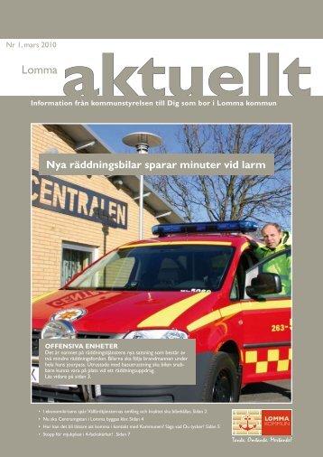 Nya räddningsbilar sparar minuter vid larm - Lomma kommun