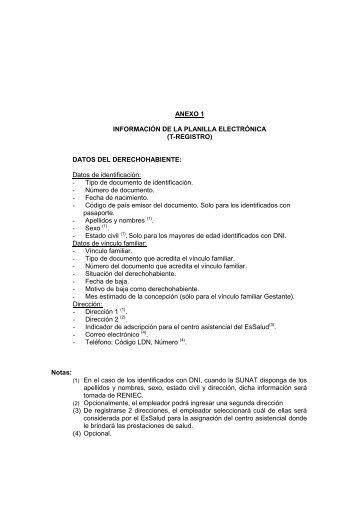 Anexos 1, 2 y 3 de la Resolución Ministerial N° 009-2011-TR