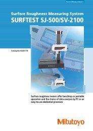 SURFTEST SJ-500/SV-2100 - Mitutoyo Scandinavia AB