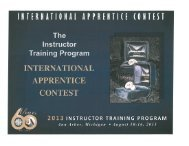 2013 International Apprenticeship Contest Presentation - Local 230