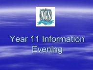 Year 11 Information Evening - Newlands Girls' School