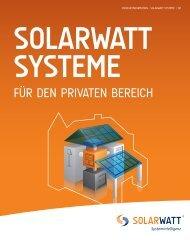 Broschüre SOLARWATT SYSTEME für den privaten Bereich