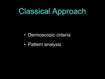 Criteria and Pattern Analysis First Step