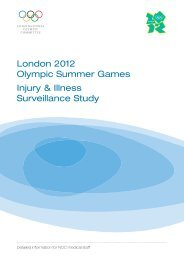London 2012 Olympic Summer Games Injury & Illness Surveillance ...