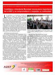 Candidatos a Intendente Municipal reconocieron ... - ADEF