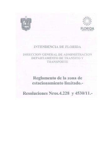 Reglamento de la zona de - Intendencia Municipal de Florida
