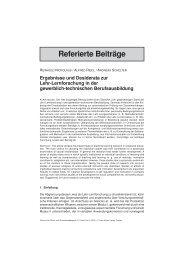 Ergebnisse und Desiderata zur Lehr-Lernforschung in der ...
