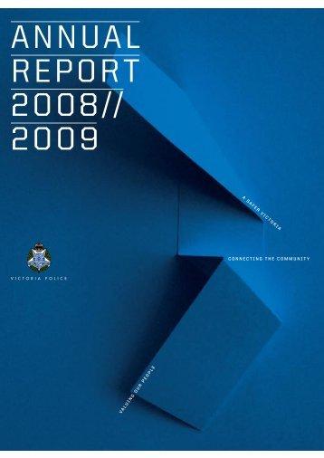 Victoria Police Annual Report 2008-09 (PDF)