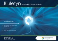 Biuletyn nr 4 – 31 grudnia 2012 - Urząd Regulacji Energetyki