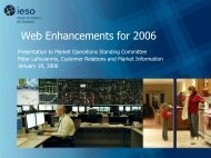 Web Enhancements for 2006 - IESO