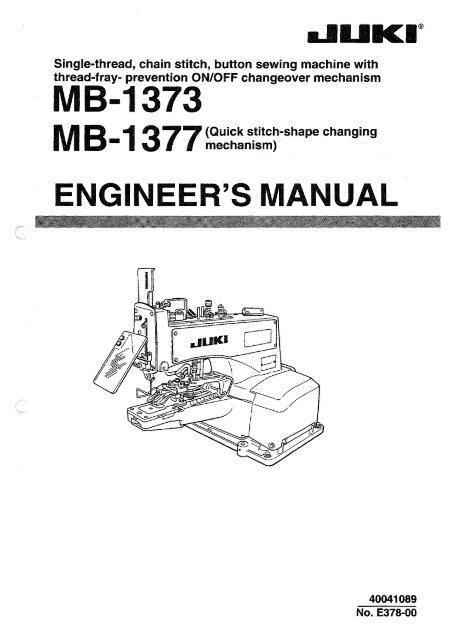 Single-thread, chain stitch, button sewing machine with