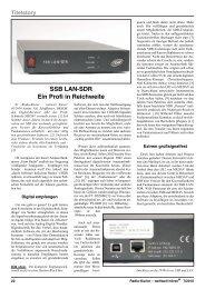 SSB LAN-SDR Ein Profi in Reichweite - Thomas-alfeld.de