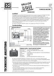 vallox lon rs485 gateway - Heinemann GmbH