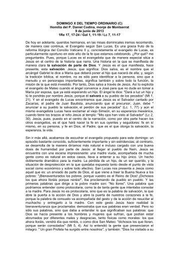 Domingo xvi del tiempo ordinario c abadia de montserrat - Tiempo olesa de montserrat ...