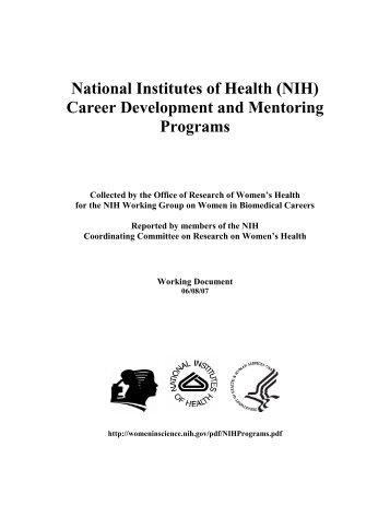 (NIH) Career Development and Mentoring Programs