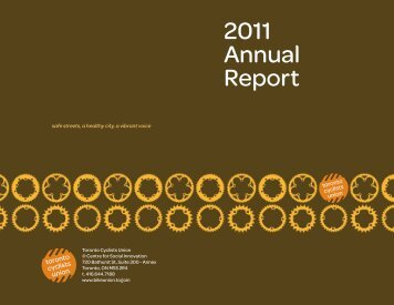 2011 Annual Report - Cycle Toronto
