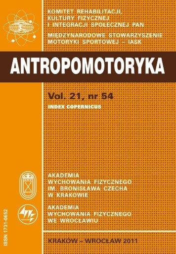 full text - Akademia Wychowania Fizycznego w Krakowie
