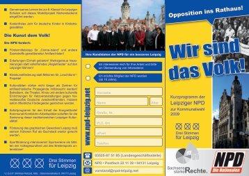 Wir sind das Volk! - NPD Kreisverband Leipzig