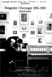 Fotografer i Stavanger 1885-1920. Biografisk katalog - Museum ...