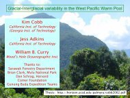 Glacial-Interglacial variability in the West Pacific Warm Pool Kim ...